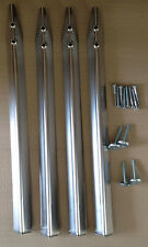 "31"" Chrome leg set for GOTTLIEB Pinball machines with bolts & levellers!"