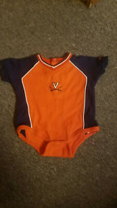 Virginia Cavaliers Baby Outfit 6-9 Month NIKE One Piece Short Sleeve UVA Hoos H2