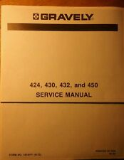 Gravely Riding 424 430 432 450 Lawn Garden Tractor Service Manual 60pg 1972