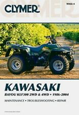 Clymer Repair Service Shop Manual Kawasaki KLF300 2WD 86-04, 4WD 89-04 Bayou