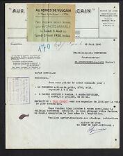 """LYON (69) USINE de VETEMENTS de TRAVAIL """"AUX FORGES DE VULCAIN"""" en 1950"""