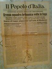 GIORNALE ,IL POPOLO D'ITALIA 21 DICEMBRE 1941 , ORIGINALE D'EPOCA