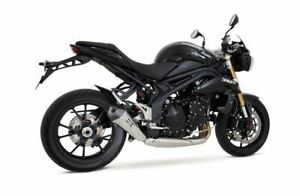 Remus Stainless LOW Hypercone Slip On Exhaust Triumph Speed Triple 1050 R 2011