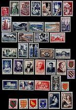 L'ANNÉE 1954 Complète, Neufs * = Cote 188 € / Lot Timbres France