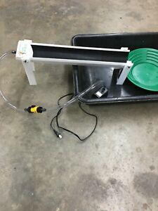 Recirculating Fine Gold Mini Sluice Box W/Legs Martin Prospecting 110v pump