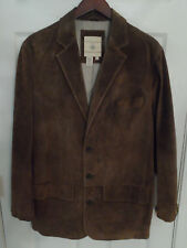 The Territory Ahead Brown Suede Blazer Style Jacket -- Mens 42 (Large) -- EUC!