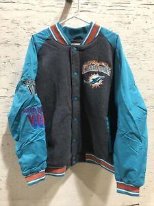 Miami Dolphins Super Bowl Champions Varsity Commemorative Jacket Men's XL