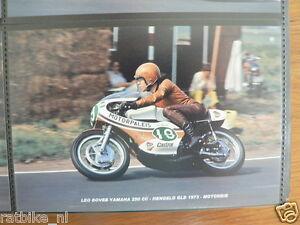 S0326-PHOTO-LEO BOVEE YAMAHA 250 CC HENGELO GLD 1973 NO 18 MOTORPALEIS CASTROL