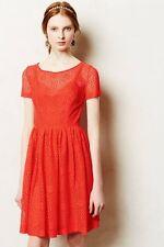 ANTHROPOLOGIE Plenty by Tracy Reese Stella, Orange Red Lace Dress 2