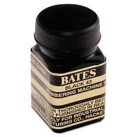 Bates Refill Ink for Numbering Machines 1 oz Bottle Black 9800659