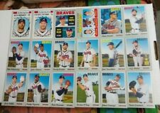 18 ATLANTA BRAVES 2019 Topps Heritage TEAM SET card lot TOUKI TOUSSAINT Freeman