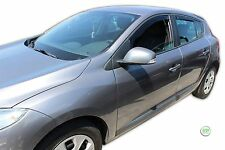 DRE27177 RENAULT MEGANE III mk3 2008-up WIND DEFLECTORS Internal 4pc HEKO TINTED