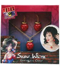 NEW REBEL TOONS SNOW WHITE Jewelry Set  Deluxe Womens Earrings Choker