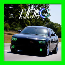2006-2010 DODGE CHARGER GREEN PLASMA HEADLIGHT+FOG HALO RING KIT by ORACLE