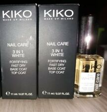 Lotto 2 KIKO Nail Care 3 in 1 WHITE n.102