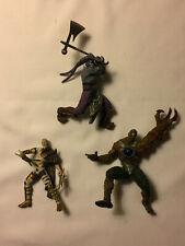 Lot of 3 Assorted MACFARLANE Fantasy Toy Figures