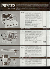 Leak TL/10 TL/12 Amplifiers Garrard 301 Model T Turntables Dealer Sheet Page