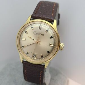 Vintage Dufonte by Lucien Piccard Manual wind men's watch,FHF ST 96-4 1970s