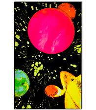 HYPER SPACE - BLACKLIGHT POSTER - 23x35 FLOCKED SOLAR SYSTEM PLANETS GALAXY 6041