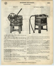 1926 PAPER AD Blackstone Wood Wooden Water Power Motor Washing Machine Capital