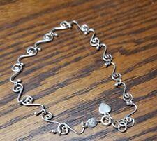 Silpada Sterling Silver A0823 Anklet / Ankle Bracelet w/ Heart