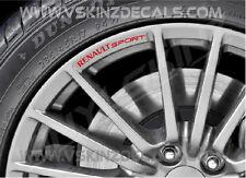 Renault Sport Premium Alloy Mag Wheel Decals Stickers MEGANE Laguna Scenic CLIO