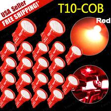 20x Super Red T10 COB LED 12V Car Dome Map License Plate Interior Lights 194 192