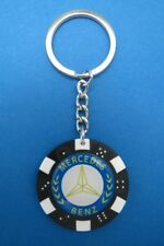 MERCEDES POKER CHIP DICE KEYRING KEY RING CHAIN #040