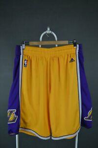 Mens Los Angeles LA Lakers 2012 NBA Basketball Adidas Shorts Size XL