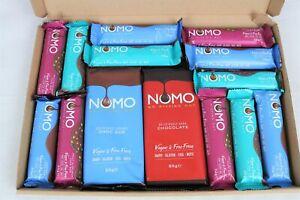 Nomo Variety Vegan Chocolate Bars Selection Box - Dairy Gluten Egg Nut Free