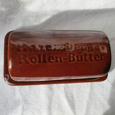 Ravensberger braune Keramik große Butterdose Rollenbutterdose Rollenbutter Dose