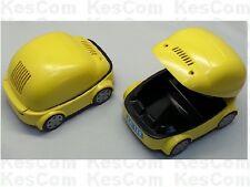 USB Aschenbecher gelbes Auto mit Filter und leuchtenden LEDs als Scheinwerfer