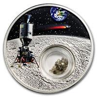 2019 Niue 1 oz Silver 50th Anniversary Moon Landing - Diamonds - SKU#173176