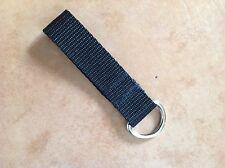 Heavy Duty D saldati 4mm metallo anello portachiavi passante della cintura di sicurezza Cinghia 25mm