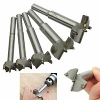 Forstner Auger Drill Bit Woodworking Hole Saw Wood Cutter Hand Tools 5 Pcs / Set