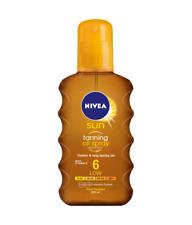 Nivea Sun Tanning Oil Spray SPF-6 - Golden Long Lasting Tan Vitamin E - 200 ml
