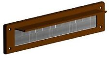 PVC DOOR LETTER BOX PLATE SEAL INTERNAL BRISTLE brown COVER DRAUGHT EXCLUDER