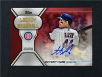 2019 Topps Series 2 Legacy of Baseball Red Auto #LBA-AR Anthony Rizzo /10