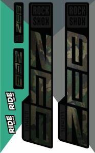 RockShox Zeb Ultimate Decal Kit   Camo   2021
