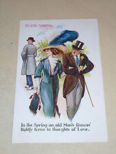 EARLY 1912 FRED SPURGIN COMIC PC - IN THE SPRING AN OLD MAN'S FIANCEE