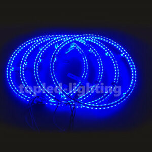 RGB Neon Lights For Cars LED Wheel Ring Light 14inch Double Side LED Wheel Light