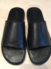 REACTION KENNETH COLE 'FEEL-INGS' MENS BLACK LEATHER SANDALS SIZE 12M $125