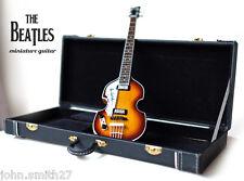 Miniature Guitar Paul McCartney The Beatles Hofner Bass Siganture + Case Gift