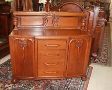English Antique Oak Art Deco Sideboard Small Buffet Wine Bar Cabinet Furniture