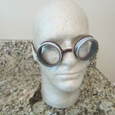 1920's Willson FoldIng Safety/Motorcycle Goggles with Case Steampunk