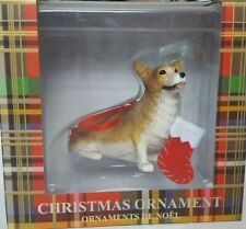 Sandicast Pembroke Welsh Corgi Dog With Christmas Sock Ornament New With Box