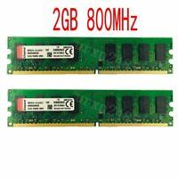4GB (2pcs 2GB) PC2-6400U DDR2 800MHz DIMM Dual Channel Desktop Memory model RED