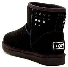UGG Australia Mini Classic Swarovski Pearls UGGpure Lined Boot Black Size 5