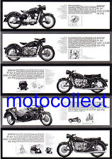 BMW R27..R50.R50S..R60 and Sidecar..R69S - A3 print - Free Postage Worldwide