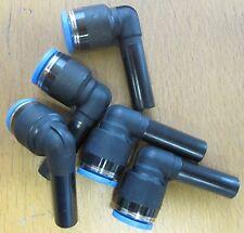Set di 5 Festo qsl-8h MM PNEUMATICO PUSH-IN l-connector. numero di parte 153058